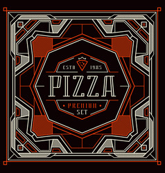 stock design cover for pizza boxes vector image