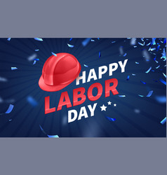 Stock happy labor day text vector