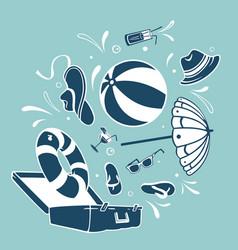 suitcase vacation symbol vector image