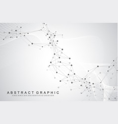 Technology abstract background with connected line vector