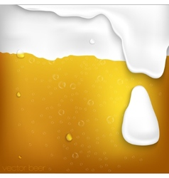 Texture of beer with foam vector