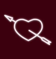 the image of the heart with an arrow vector image