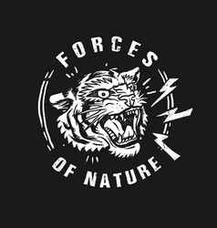 tiger forces nature vector image