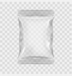 transparent packaging for snacks chips sugar vector image