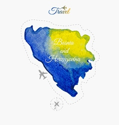 Travel around the world Bosnia and Herzegovina vector