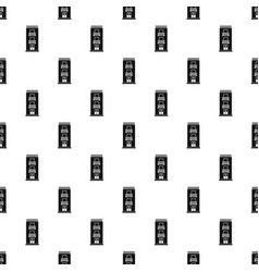 two floor house pattern seamless vector image