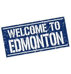 Welcome to edmonton stamp vector
