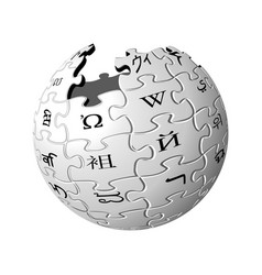 wikipedia icon vector image