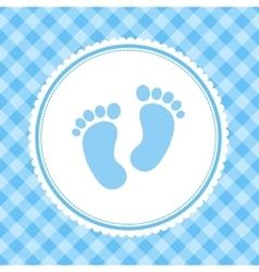 boy baby shower invitation card vector image