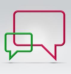 Couple square communication bubbles vector image