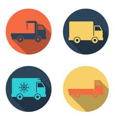 delivery car icon set vector image vector image