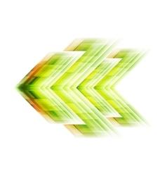 Green arrow tech background vector image vector image