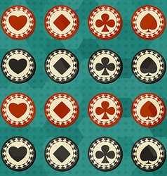 poker card suit seamless vector image vector image