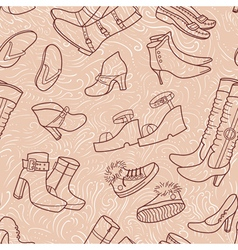 seamless pattern with female shoes vector image