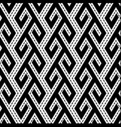 tribal ethnic monochrome seamless pattern vector image