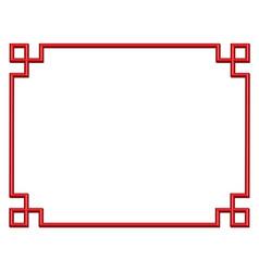 3d china border frame vector image
