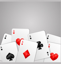 four aces playing cards suits vector image vector image