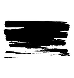 horisontal dry brush stroke black color easy to vector image
