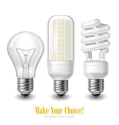 Led Lightbulb Set vector image