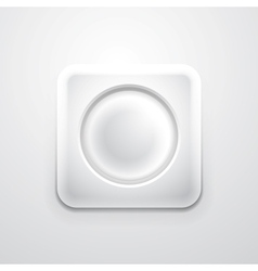 White mobile app icon with empty circle vector image
