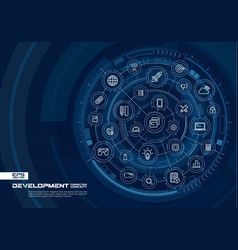 abstract development and programming background vector image vector image