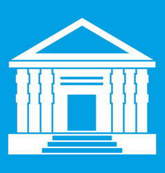 colonnade icon white vector image