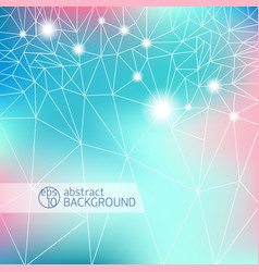 colored geometric background vector image vector image
