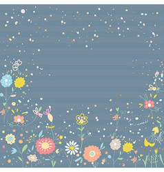 Floral background for card or invitation vector image