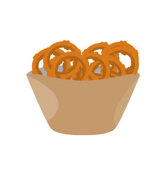 Fried onion rings vector