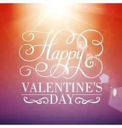 Happy Valentines day typographical background vector image
