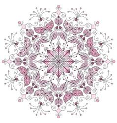 pastel round vintage pattern vector image vector image