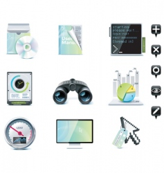 server administration icons vector image vector image