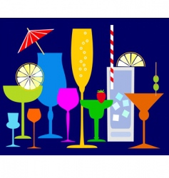colorful coctails vector image