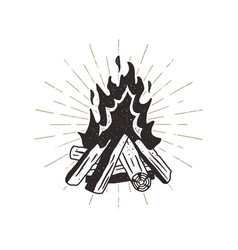 hand drawn campfire sunbursts vector image