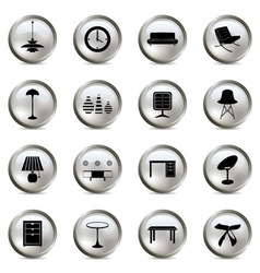 home interior icons vector image vector image
