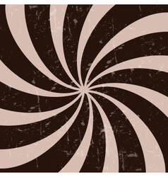 Retro vintage grunge hypnotic CHOCOLATE background vector image