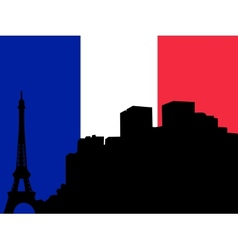 silhouette of paris vector image vector image