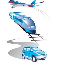 Travel elements vector