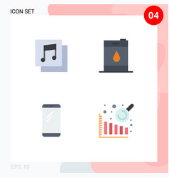 4 universal flat icons set for web and mobile vector