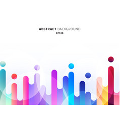 Abstract colorful rounded lines transition vector
