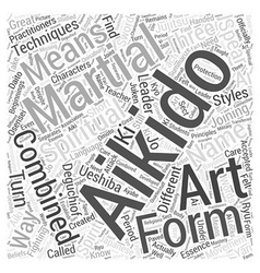 Aikido history word cloud concept vector