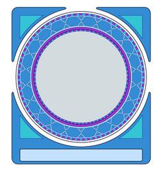 Art deco circle borderretro style vector