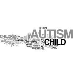 Autism a brief overview text word cloud concept vector