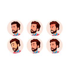 avatar icon man comic face art cheerful vector image