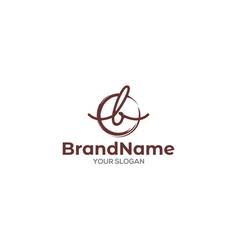 B script logo design vector