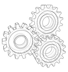 Background industrial design gears conceptual 3d vector