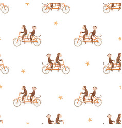 beautiful seamless pattern with watercolor hand vector image