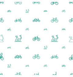 Biking icons pattern seamless white background vector
