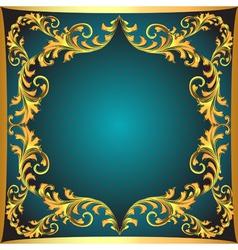 blue background a frame vector image