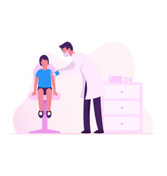Child vaccination immunization procedure doctor vector